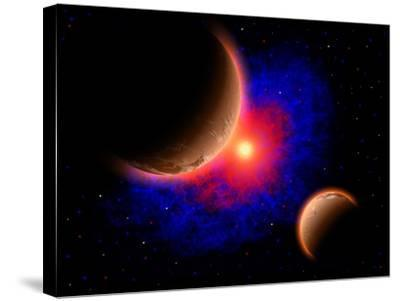 The Eye of a Nebula, a Star at the Center of a Gaseous Nebula-Stocktrek Images-Stretched Canvas Print