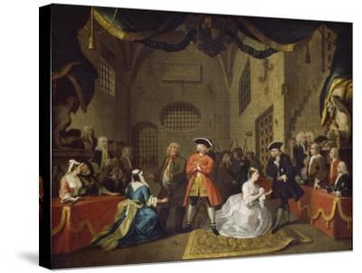 A Scene from The Beggar's Opera VI-William Hogarth-Stretched Canvas Print