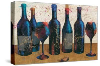 Wine Splash Light I-Jim Wellington-Stretched Canvas Print