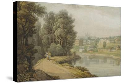 Exeter as Seen from the River, 1816-John White Abbott-Stretched Canvas Print