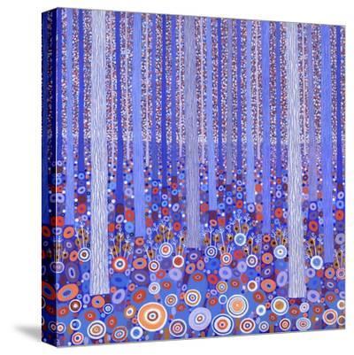 Blue Orange Forest, 2015-David Newton-Stretched Canvas Print