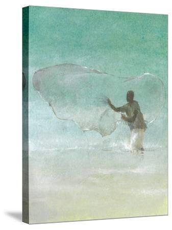 Lone Fisherman 5, 2015-Lincoln Seligman-Stretched Canvas Print