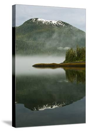 USA, Alaska. Morning Fog on Lake-Jaynes Gallery-Stretched Canvas Print
