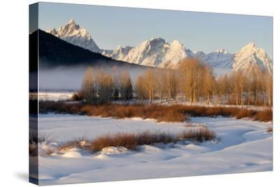 USA, Wyoming, Grand Tetons National Park. Oxbow Bend in Winter-Jaynes Gallery-Stretched Canvas Print