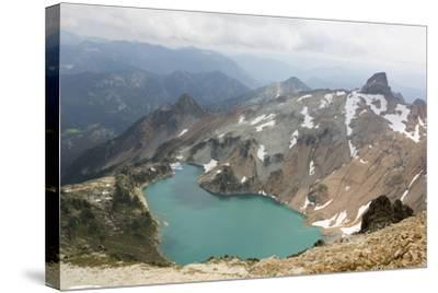 Wa, Alpine Lakes Wilderness, Circle Lake, View from Mount Daniel-Jamie And Judy Wild-Stretched Canvas Print
