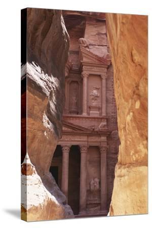 Jordan, the Treasury at Petra-Steve Roxbury-Stretched Canvas Print