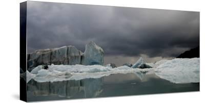 View of Ice Bergs in Resurrection Bay from Bear Glacier in Kenai Fjords National Park, Alaska-Design Pics Inc-Stretched Canvas Print