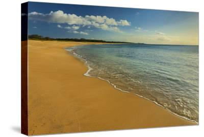 Two Mile Long Papohaku Beach, on the West End of Molokai Island-Richard Cooke-Stretched Canvas Print