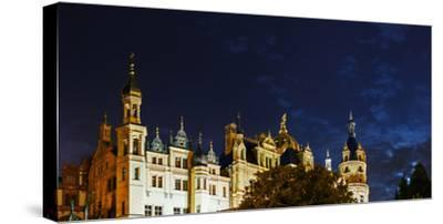 The Historic Schwerin Palace at Night-Babak Tafreshi-Stretched Canvas Print