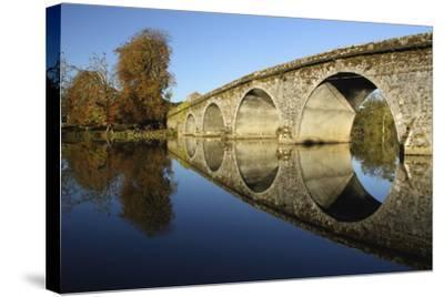 Bridge over River Nore; Bennettsbridge, County Kilkenny, Ireland-Design Pics Inc-Stretched Canvas Print