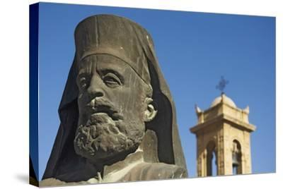 Archbishop Makarios Statue Outside Archbishopic Palace, Close Up-Design Pics Inc-Stretched Canvas Print