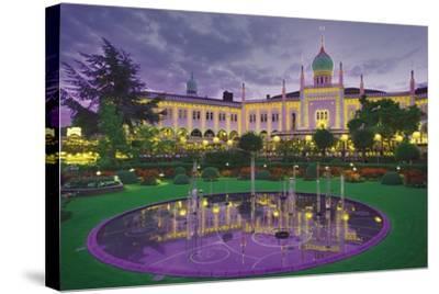 Nimb Brasserie, Tivoli Gardens, Copenhagen, Denmark; Amusement Park and Fountain-Design Pics Inc-Stretched Canvas Print