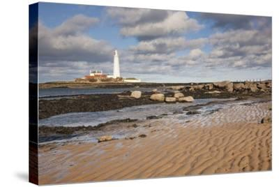 Lighthouse, Northumberland, England-Design Pics Inc-Stretched Canvas Print