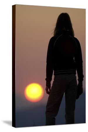 A Female Climber Stands at Sunset in the Cederberg Wilderness Area, South Africa-Keith Ladzinski-Stretched Canvas Print