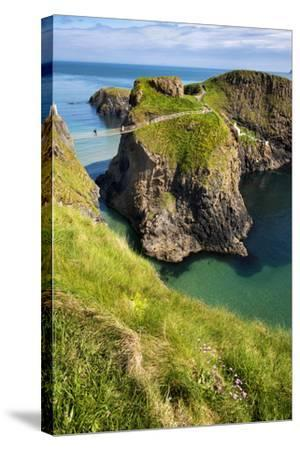 Carrick-A-Rede Rope Bridge in Northern Ireland-Chris Hill-Stretched Canvas Print