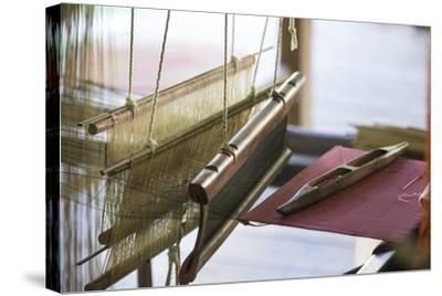 Stretched Strands of Fine Yarn in Traditional Looms at Ock Pop Tock, the Living Craft Center-Michael Melford-Stretched Canvas Print