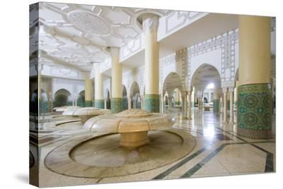 Interior Arches and Mosaic Tile Work of the Hammam Turkish Bath Below the Hassan Ii Mosque-Erika Skogg-Stretched Canvas Print