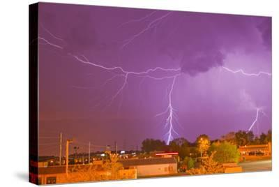 Multiple Lightning Bolts During an Intense Lightning Storm-Mike Theiss-Stretched Canvas Print