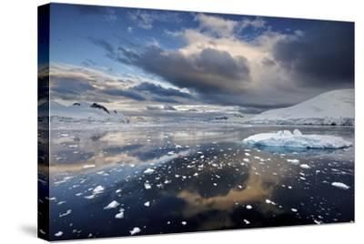 Evening Clouds over Floating Ice-Jim Richardson-Stretched Canvas Print