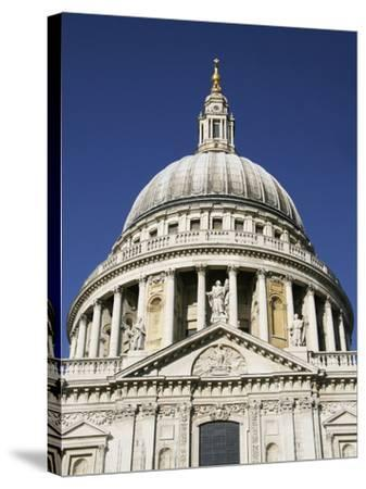 Dome of St Pauls Cathedral, Close Up-Design Pics Inc-Stretched Canvas Print