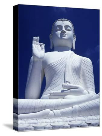 Large Seated White Buddha-Design Pics Inc-Stretched Canvas Print