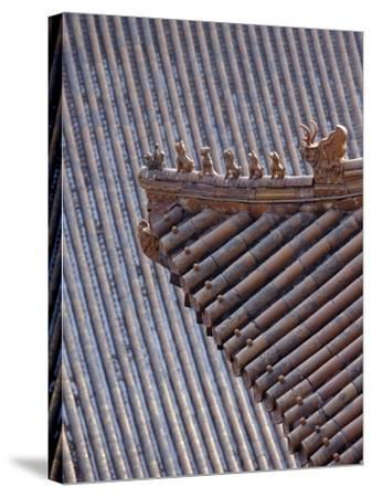 Figures on the Roof of the Summer Palace-Design Pics Inc-Stretched Canvas Print