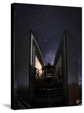 The 3.58-Metre New Technology Telescope, Ntt, Appears at Night in Action-Babak Tafreshi-Stretched Canvas Print