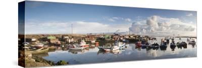 Boats Moored on the Water Along the Shoreline; Saltburn, Teesside, England-Design Pics Inc-Stretched Canvas Print