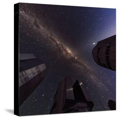 The Milky Way over the Cerro Paranal Observatory-Babak Tafreshi-Stretched Canvas Print