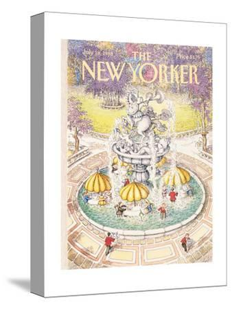 The New Yorker Cover - July 18, 1988-John O'brien-Stretched Canvas Print