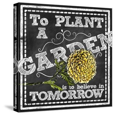 Planting a Garden--Stretched Canvas Print