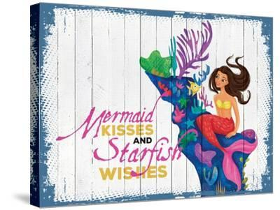Mermaid Kisses 3--Stretched Canvas Print
