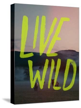 Live Wild Elk-Leah Flores-Stretched Canvas Print