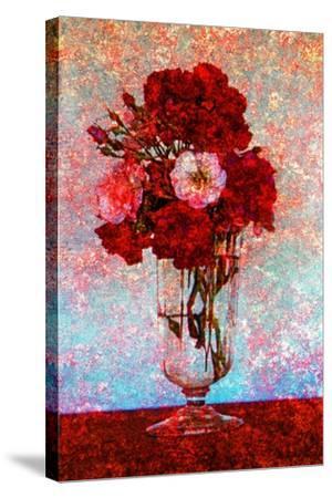 Flower Vase--Stretched Canvas Print