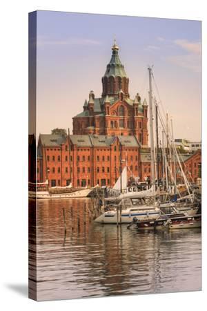 Uspenski Cathedral and Helsinki Harbor-Jon Hicks-Stretched Canvas Print