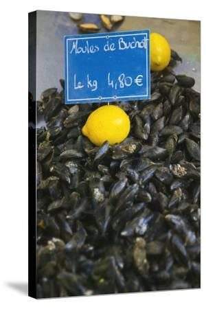 Mussels for Sale in Aix-En-Provence-Jon Hicks-Stretched Canvas Print