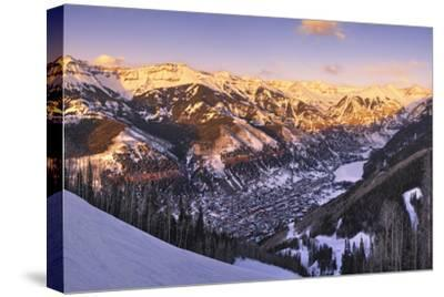 Telluride at Sunset-Jon Hicks-Stretched Canvas Print