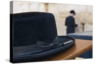 Close-Up of a Hasidic Jew's Hat at the Western Wall-Jon Hicks-Stretched Canvas Print