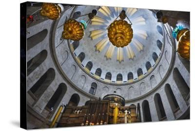Dome Interior in the Church of the Holy Sepulchre-Jon Hicks-Stretched Canvas Print