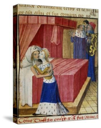 The Death of the Lovers. Queen Iseult Kissing Her Lover--Stretched Canvas Print