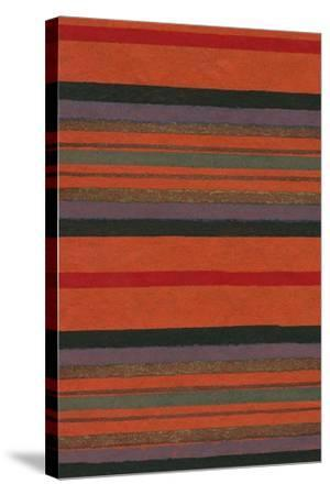 Lined Rug Pattern-Found Image Press-Stretched Canvas Print