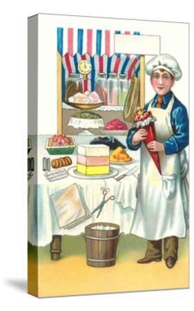 Boy with Various Desserts-Found Image Press-Stretched Canvas Print