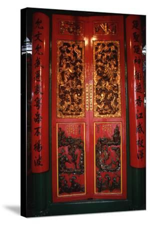 Doors at the Man Mo Temple-Macduff Everton-Stretched Canvas Print
