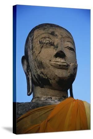 Buddha Head-Macduff Everton-Stretched Canvas Print
