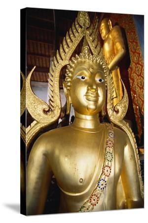Bronze Buddha Statue-Macduff Everton-Stretched Canvas Print