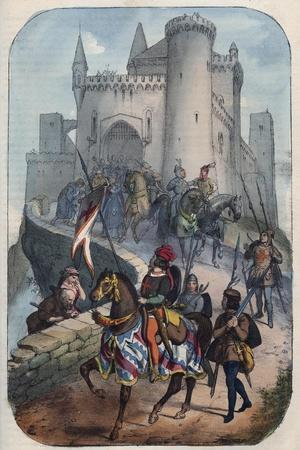 Departure of the Lombards for the First Crusade-Stefano Bianchetti-Stretched Canvas Print