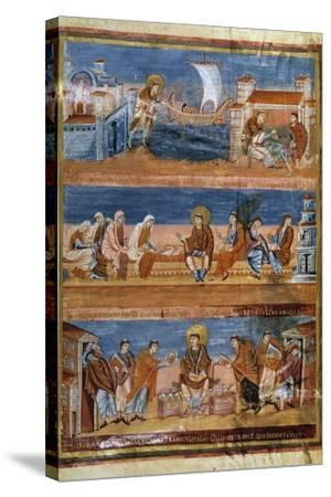 St Jerome Leaving Rome for Jerusalem - 9Th Cent. Illumination--Stretched Canvas Print