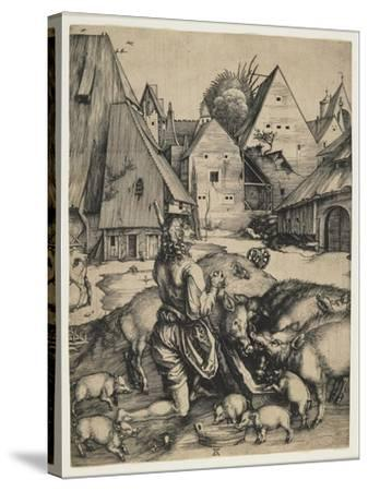 The Prodigal Son, 1496-Albrecht D?rer-Stretched Canvas Print