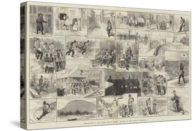 Reminiscences of the Easter Monday Review, Sketches on the March to Brighton-Alfred Courbould-Stretched Canvas Print
