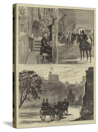 The Royal Wedding at Windsor-Alfred Chantrey Corbould-Stretched Canvas Print
